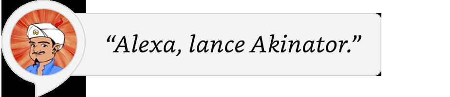 Alexa lance Akinator