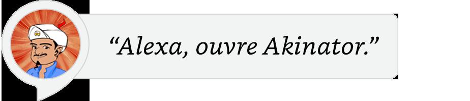 Alexa ouvre Akinator